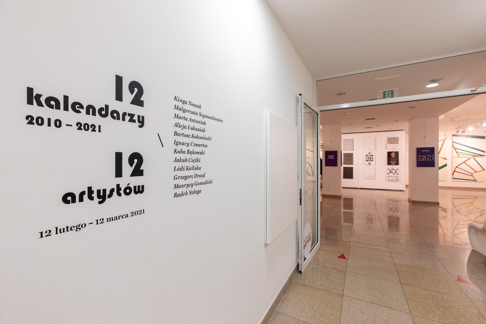Dwanaście kalendarzy, dwunastu artystów – wystawa