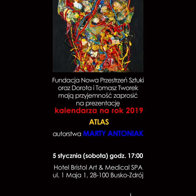 "Kalendarz na rok 2019 ""Atlas"" Marty Antoniak"